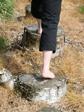 Verbondenheid met de natuur: blote voeten pad